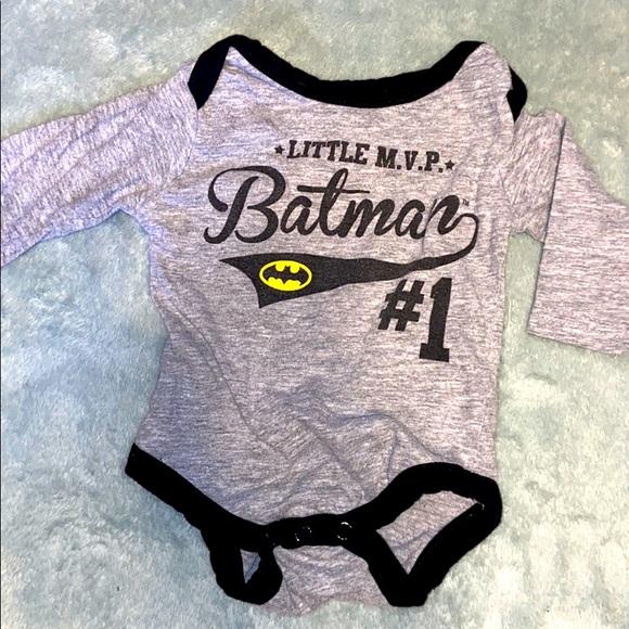 Batman long sleeve onesie